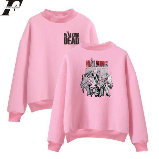 The Walking Dead New Arrive Oversize Turtlenecks Hoodies Sweatshirts Women Men Hoodies Loose Casual Sweatshirts 10