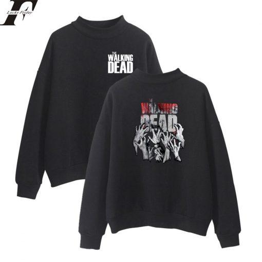 The Walking Dead New Arrive Oversize Turtlenecks Hoodies Sweatshirts Women Men Hoodies Loose Casual Sweatshirts 7