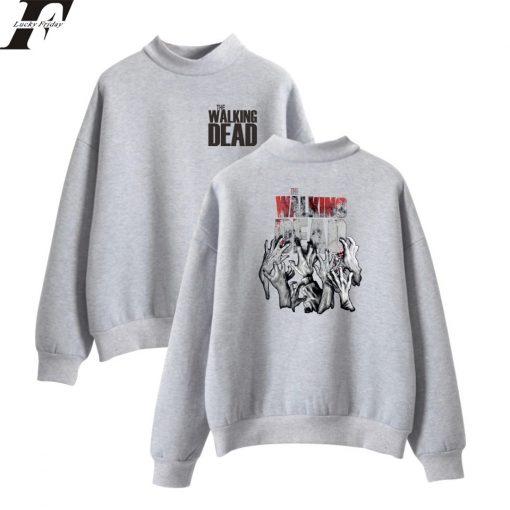 The Walking Dead New Arrive Oversize Turtlenecks Hoodies Sweatshirts Women Men Hoodies Loose Casual Sweatshirts 8
