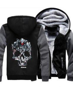 The Walking Dead Rick Grimes Streetwear Hoodies Negan Sweatshirt Men Winter Fleece Thick Hooded Coat Hoodie