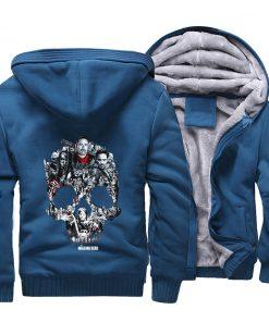 The Walking Dead Rick Grimes Streetwear Hoodies Negan Sweatshirt Men Winter Fleece Thick Hooded Coat Hoodie 3