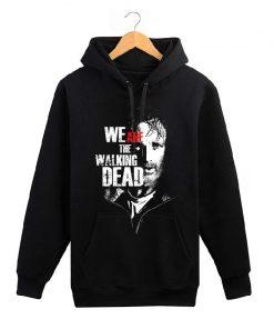 The Walking Dead memorial hoodies men wool liner cotton sweatshirt men Glenn Rick Daril Negan brand 1