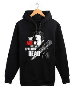 The Walking Dead memorial hoodies men wool liner cotton sweatshirt men Glenn Rick Daril Negan brand 4