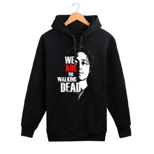 The Walking Dead memorial hoodies men wool liner cotton sweatshirt men Glenn Rick Daril Negan brand