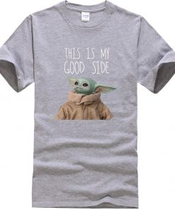 This Is My Good Side Baby Yoda Men T Shirts Star Wars Print Tops New Summer 1