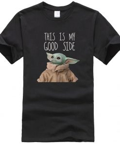This Is My Good Side Baby Yoda Men T Shirts Star Wars Print Tops New Summer 2