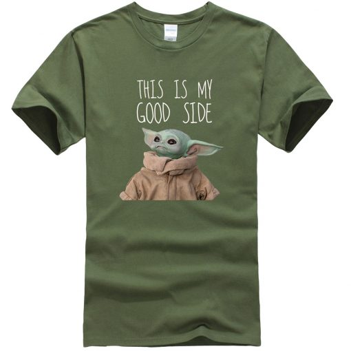 This Is My Good Side Baby Yoda Men T Shirts Star Wars Print Tops New Summer 3