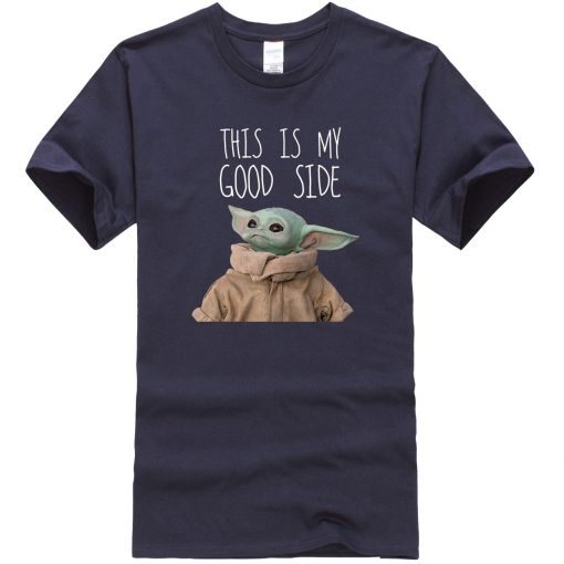This Is My Good Side Baby Yoda Men T Shirts Star Wars Print Tops New Summer