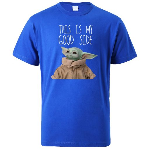 This Is My Good Side Baby Yoda Print T Shirts Men Hip Hop Tops New 2020 2