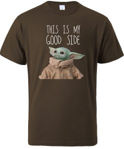 This Is My Good Side Baby Yoda Print T Shirts Men Hip Hop Tops New 2020 3