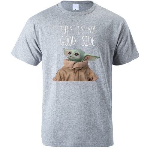 This Is My Good Side Baby Yoda Print T Shirts Men Hip Hop Tops New 2020 4