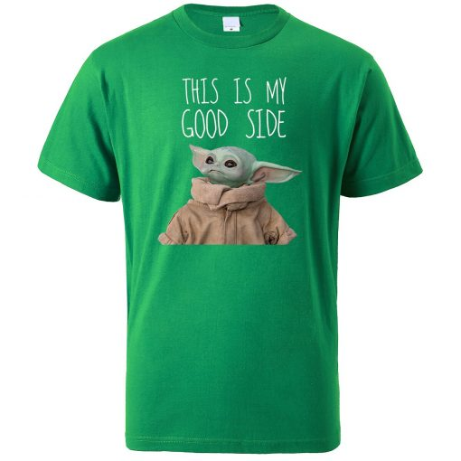 This Is My Good Side Baby Yoda Print T Shirts Men Hip Hop Tops New 2020 5
