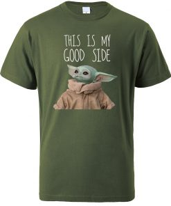 This Is My Good Side Baby Yoda Print T Shirts Men Hip Hop Tops New 2020 6