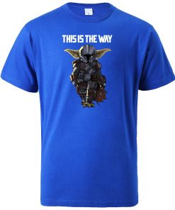 This Is The WAY Funny Print Men T Shirts Hip Hop Baby Yoda Tops New 2020 1