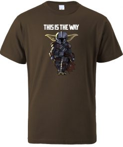 This Is The WAY Funny Print Men T Shirts Hip Hop Baby Yoda Tops New 2020 2