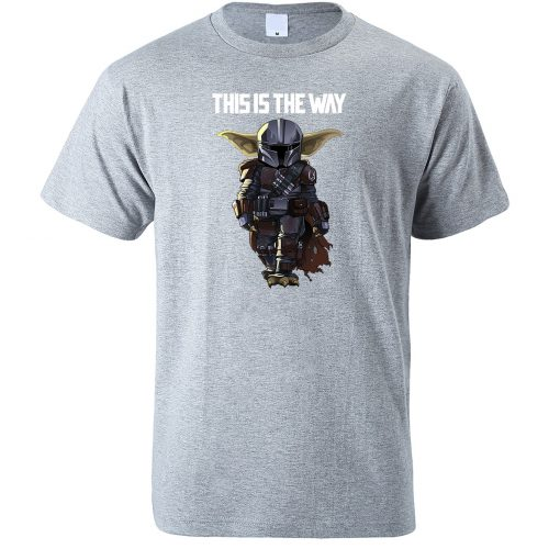 This Is The WAY Funny Print Men T Shirts Hip Hop Baby Yoda Tops New 2020 3