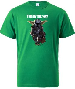 This Is The WAY Funny Print Men T Shirts Hip Hop Baby Yoda Tops New 2020 4