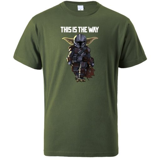 This Is The WAY Funny Print Men T Shirts Hip Hop Baby Yoda Tops New 2020 5