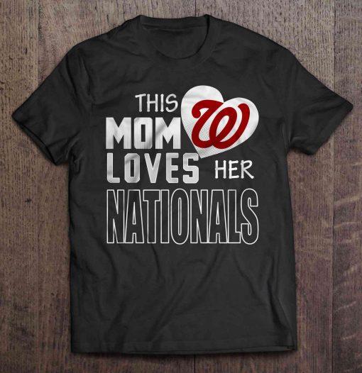 This Mom Loves Her Nationals Washington Streetwear Harajuku 100 Cotton Men S Tshirt Nationals Tshirts