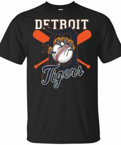 Tiger Mascot Distressed Detroit Base T Shirt New Men Tee Shirt Short Sleeve