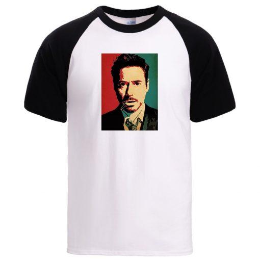 Tony Stark Iron Man Tshirt Mens Man Loose Crewneck Sportswear Tee 2020 Summer Spring 100 Cotton