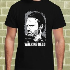 Top Quality Cotton Men The Walking Dead Rick Grimes T Shirt Per Uomo Classic Tops Tee