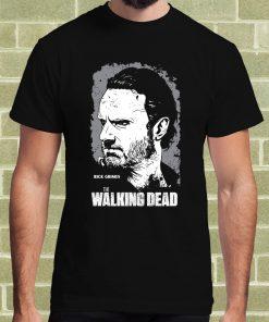 Top Quality Cotton Men The Walking Dead Rick Grimes T Shirt Per Uomo Classic Tops Tee