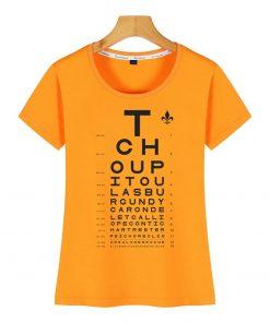Tops T Shirt Women new orleans eye chart Basic Vintage Cotton Female Tshirt 4