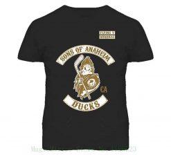 Tshirt Bandits Men s Sons Of Anaheim California Ducks T shirt Summer Short Sleeve Cotton