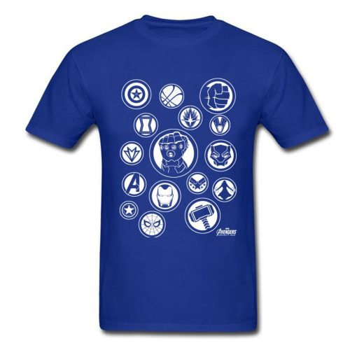 Tshirt Men Avengers Infinity War T Shirt Fashion Thanos Gauntlet Collector T shirt Black Marvel Tops 1
