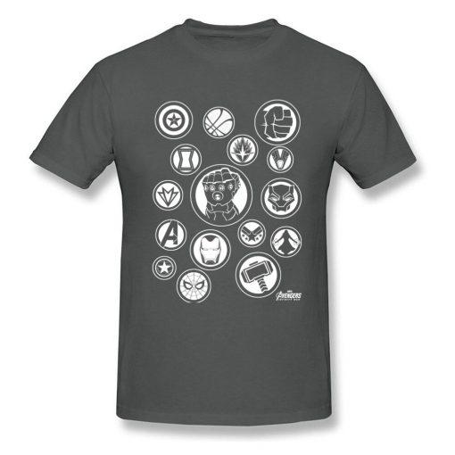 Tshirt Men Avengers Infinity War T Shirt Fashion Thanos Gauntlet Collector T shirt Black Marvel Tops 2