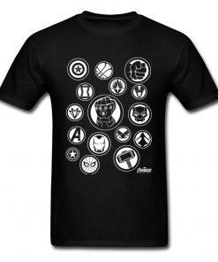 Tshirt Men Avengers Infinity War T Shirt Fashion Thanos Gauntlet Collector T shirt Black Marvel Tops