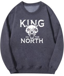 Tv Show Game Of Thrones Hoodie Men Winter Is Coming King Evil In The North Wolf 1