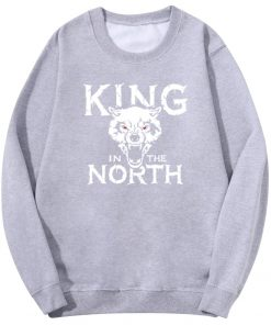 Tv Show Game Of Thrones Hoodie Men Winter Is Coming King Evil In The North Wolf 2