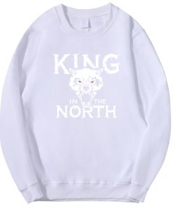 Tv Show Game Of Thrones Hoodie Men Winter Is Coming King Evil In The North Wolf 3