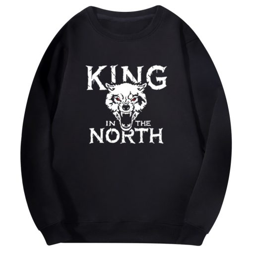 Tv Show Game Of Thrones Hoodie Men Winter Is Coming King Evil In The North Wolf