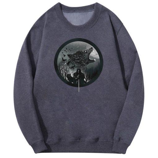 Tv Show Game Of Thrones Men S Hoodie Wolf Animal Men Harajuku 2020 Spring Autumn Fleece 1
