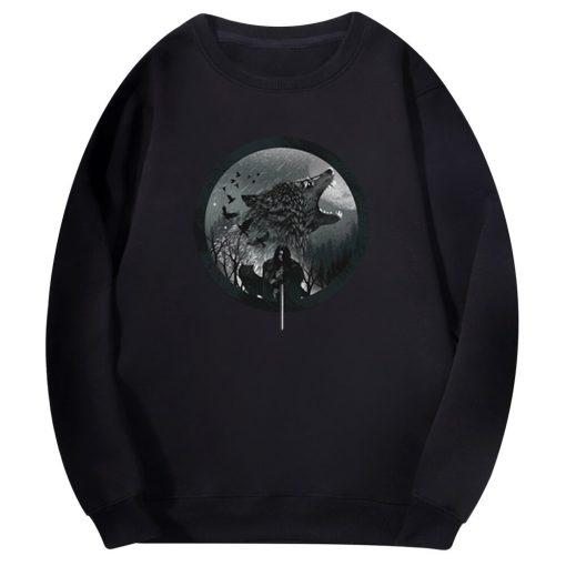 Tv Show Game Of Thrones Men S Hoodie Wolf Animal Men Harajuku 2020 Spring Autumn Fleece 3