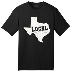 USA Made Local Texan American T Shirt Texas Pride Map