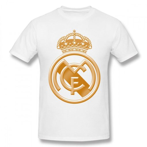 USA Size Mens Cool Real Madrided Sign Cotton Tshirt Summer Oversized Casual Printing T Shirt Short 2