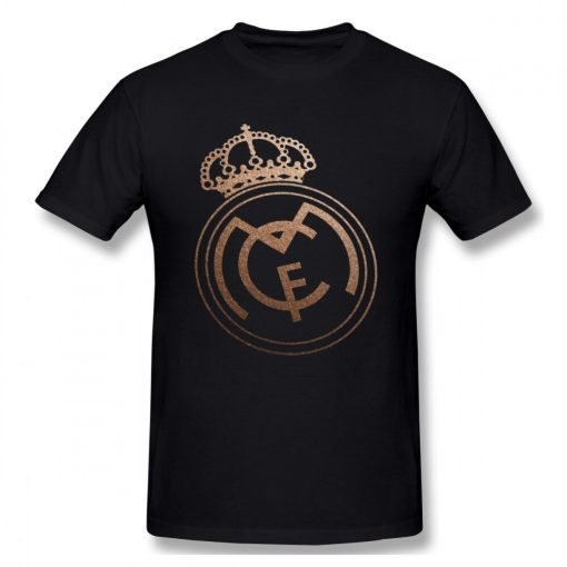USA Size Mens Cool Real Madrided Sign Cotton Tshirt Summer Oversized Casual Printing T Shirt Short 3