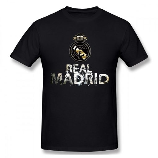 USA Size Mens Cool Real Madrided Sign Cotton Tshirt Summer Oversized Casual Printing T Shirt Short 4