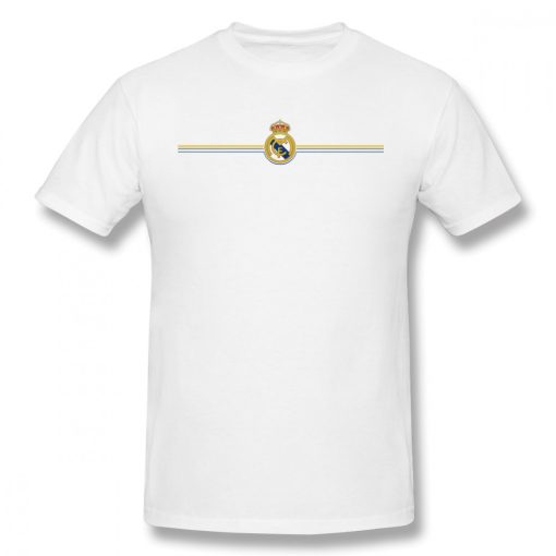 USA Size Mens Cool Real Madrided Sign Cotton Tshirt Summer Oversized Casual Printing T Shirt Short