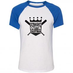 Unisex Summer T shirt Funny Straight Outta Kauffman KC Royals Bad Boys Kansas City Short Sleeve 1