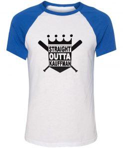 Unisex Summer T shirt Funny Straight Outta Kauffman KC Royals Bad Boys Kansas City Short Sleeve 1