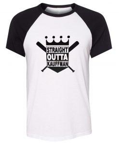 Unisex Summer T shirt Funny Straight Outta Kauffman KC Royals Bad Boys Kansas City Short Sleeve