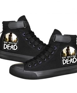 Unisex Winter The Walking Dead Canvas Shoes Lace Up Sneakers Shoes Casual Shoes Leisure Shoes 2