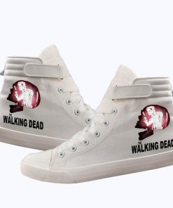 Unisex Winter The Walking Dead Canvas Shoes Lace Up Sneakers Shoes Casual Shoes Leisure Shoes 4