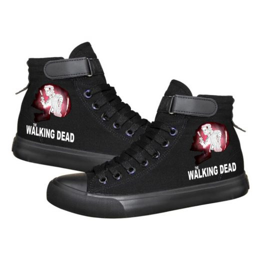 Unisex Winter The Walking Dead Canvas Shoes Lace Up Sneakers Shoes Casual Shoes Leisure Shoes 5