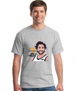 Utah Jazz Ricky Rubio Spanish Golden Boy Men Basketball Jersey Tee Shirts Fashion Man Funny Cartoon 1